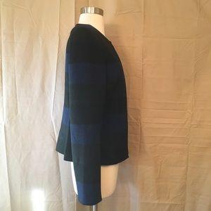 Tahari Jackets & Coats - Tahari ASL Blue Black Grey Striped Blazer Sz 6